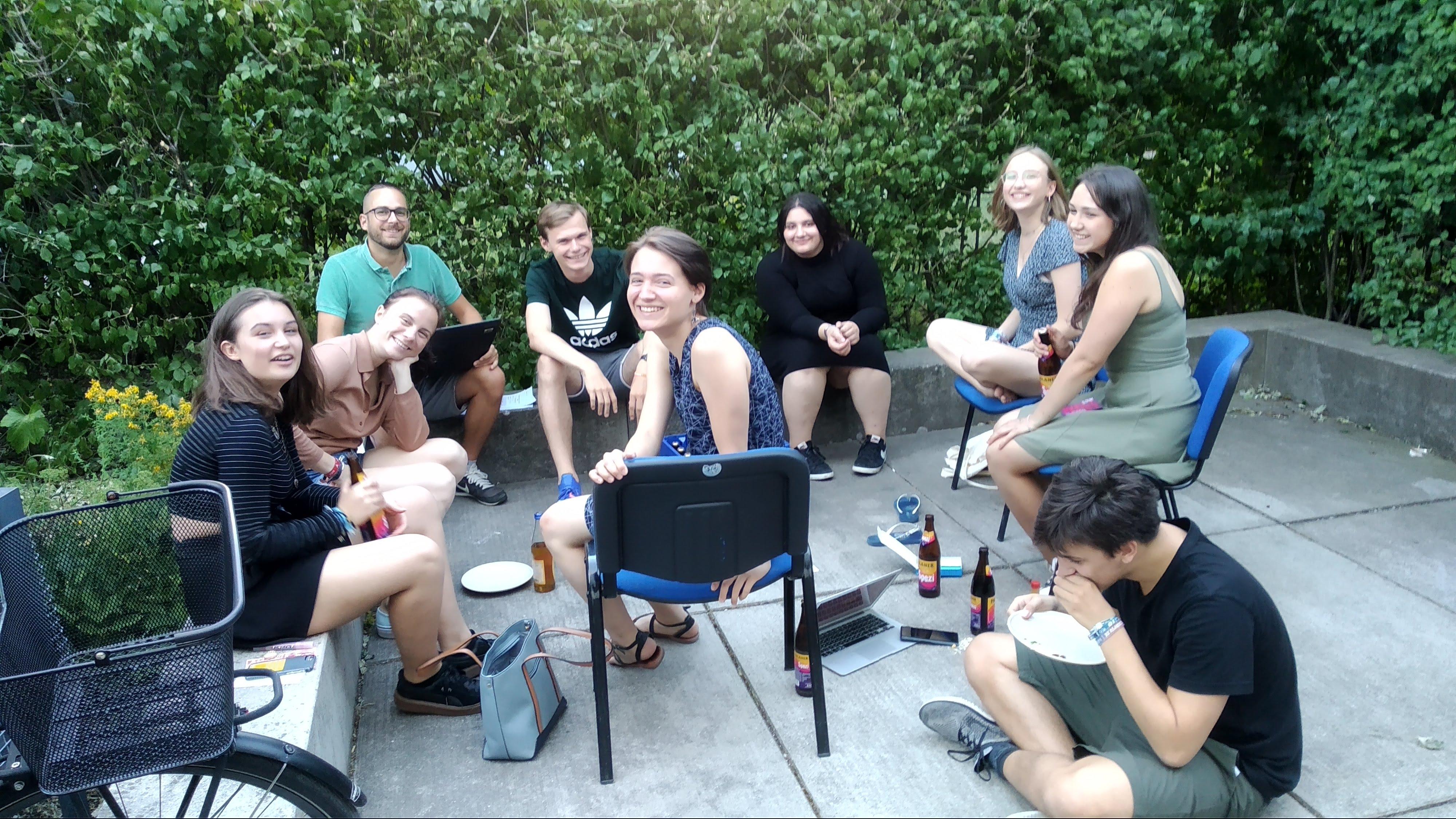 Ein Teamtreffen im Sommer
