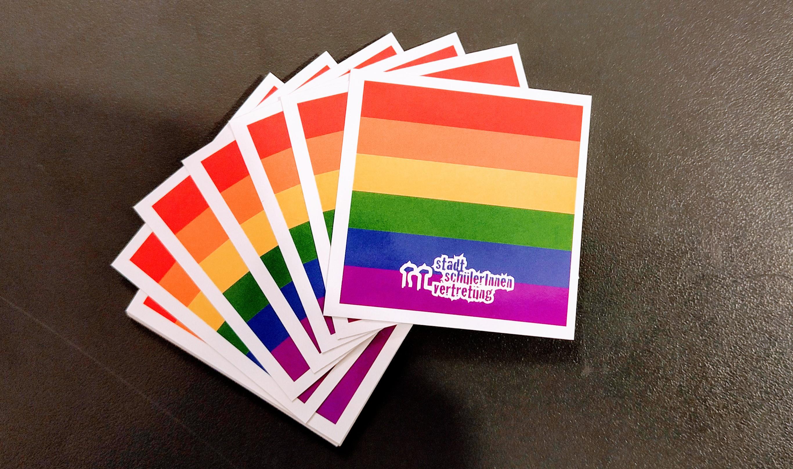 Unsere pride flag-Sticker